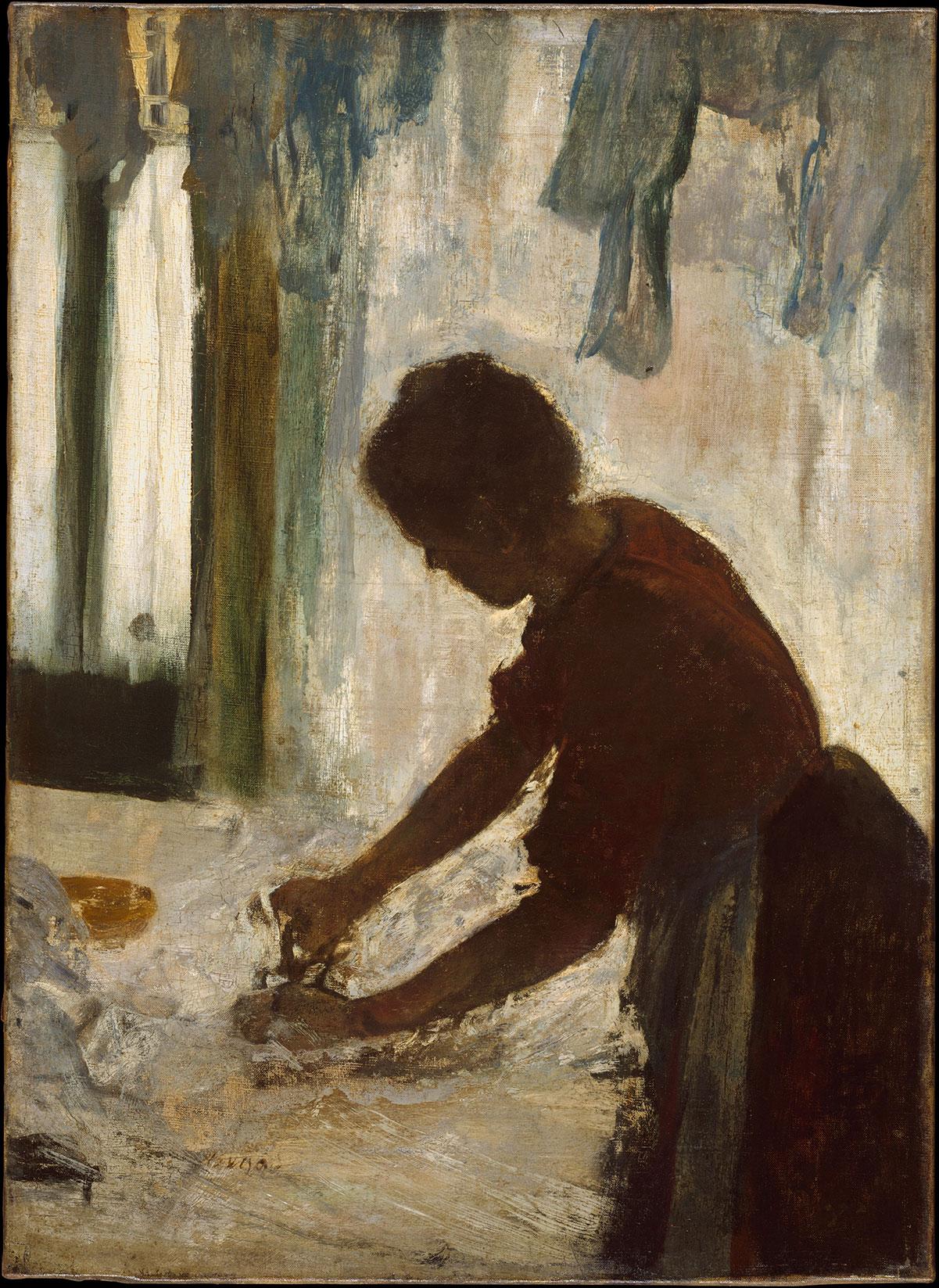 A Woman Ironing - Degas