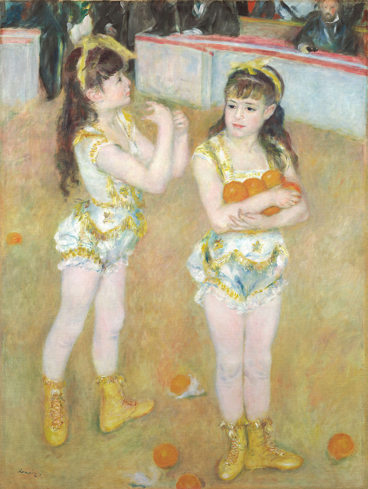 Acrobats at the Cirque Fernando (Francisca and Angelina Wartenberg) - Renoir