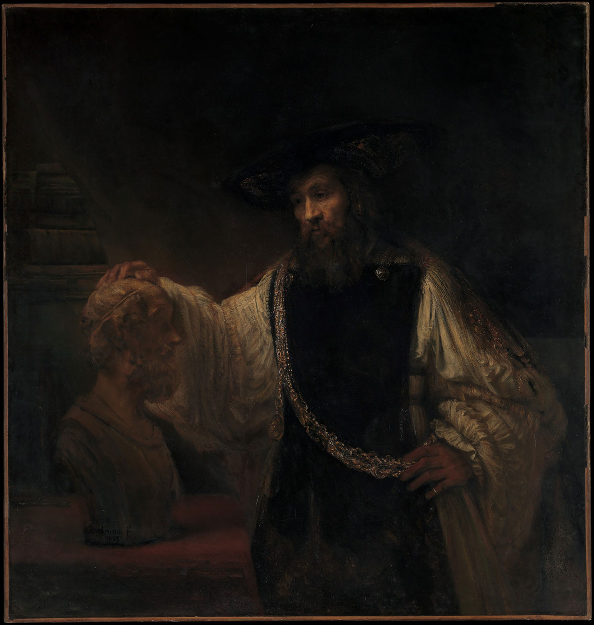 Aristotle with a Bust of Homer - van Rijn