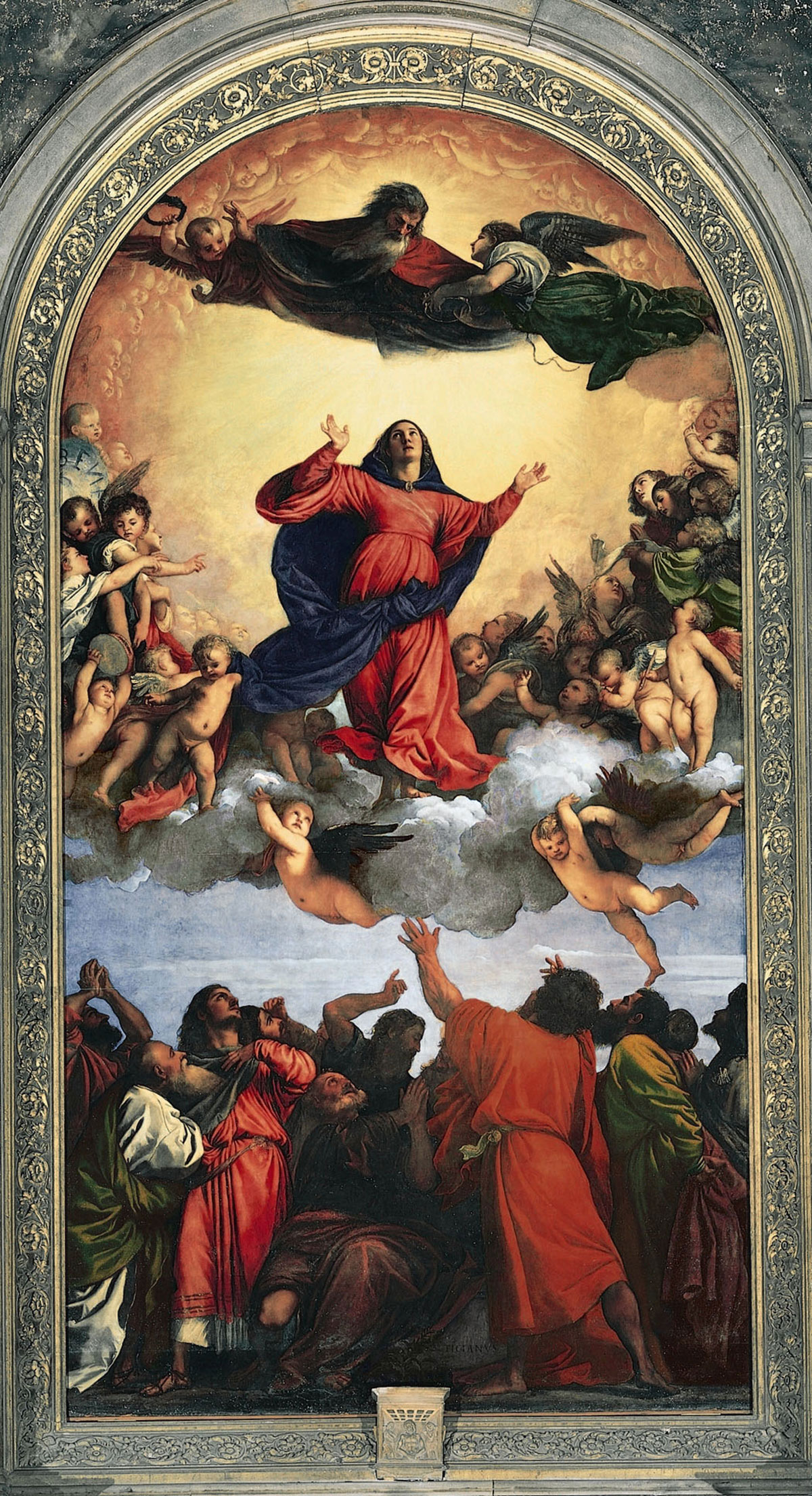 Assumption of the Virgin /Assunta/ + Titian *magnifico