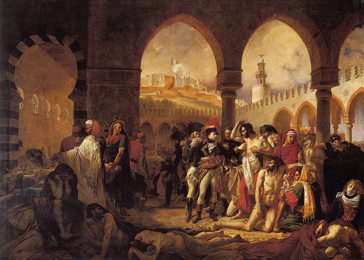 Bonaparte visiting the plague victims of Jaffa /Bonaparte visitant les pestiférés de Jaffa/ + Gros, Antoine-Jean *magnifico