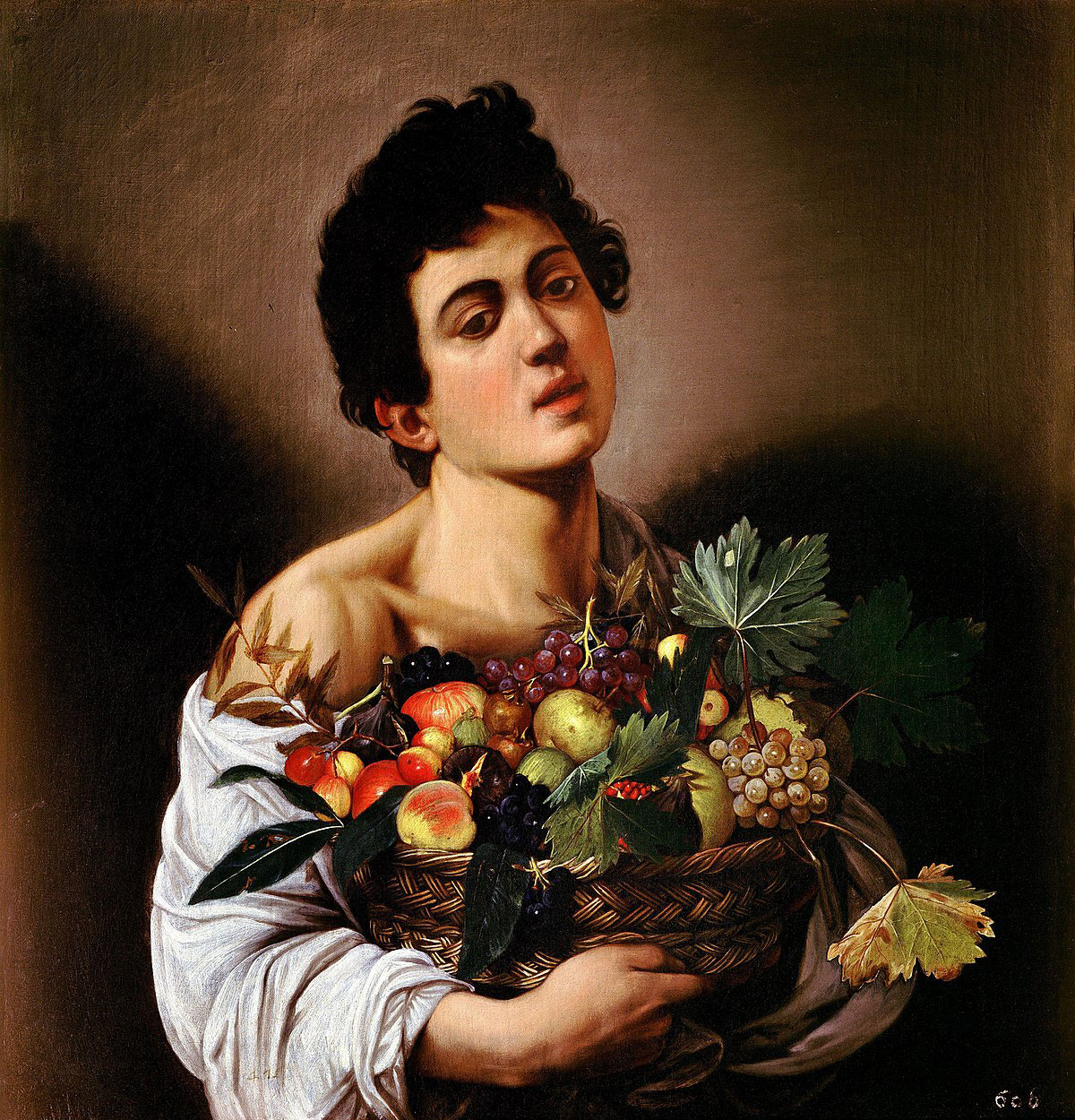 Boy with a basket of fruit /Fanciullo con canestro di frutta/ + Caravaggio *magnifico