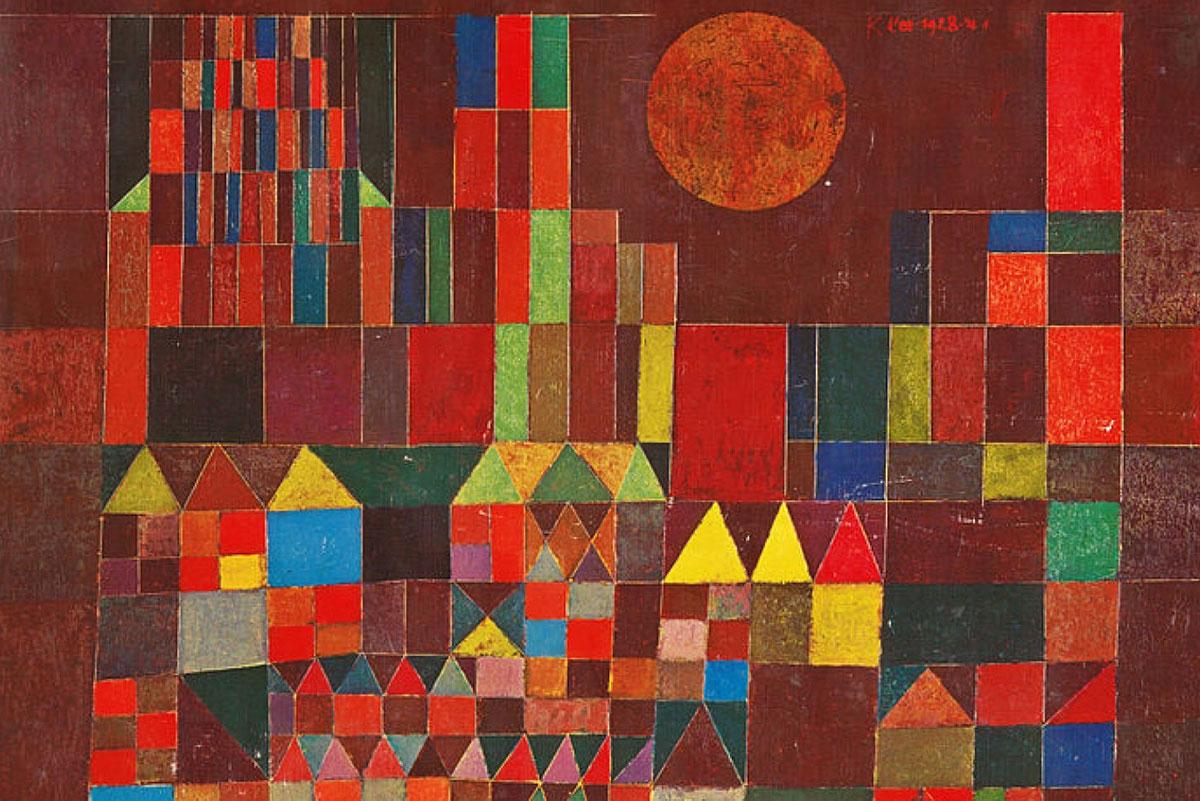Castle and Sun /Burg und Sonne/ + Klee, Paul *magnifico