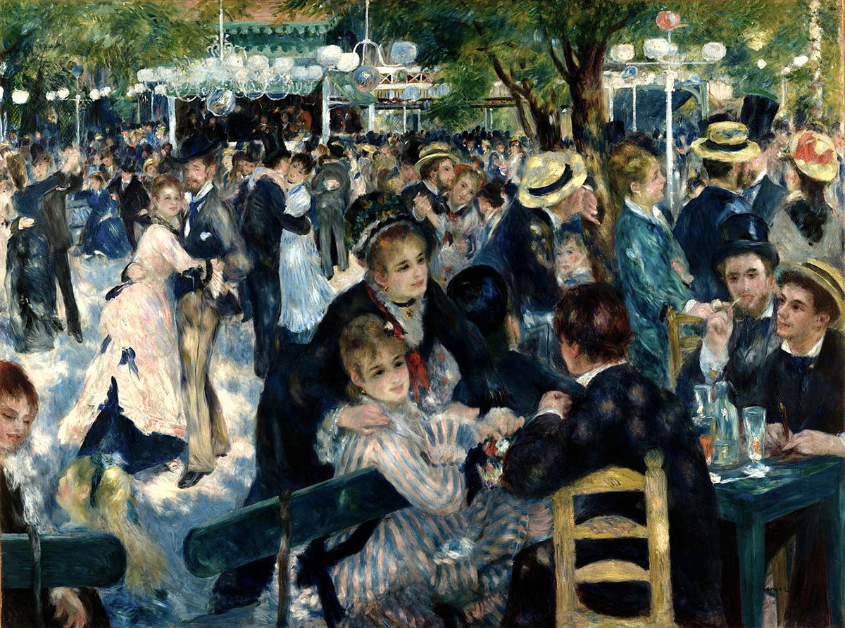 Dance at Le moulin de la Galette /Bal du moulin de la Galette/ + Renoir, Pierre-Auguste *magnifico