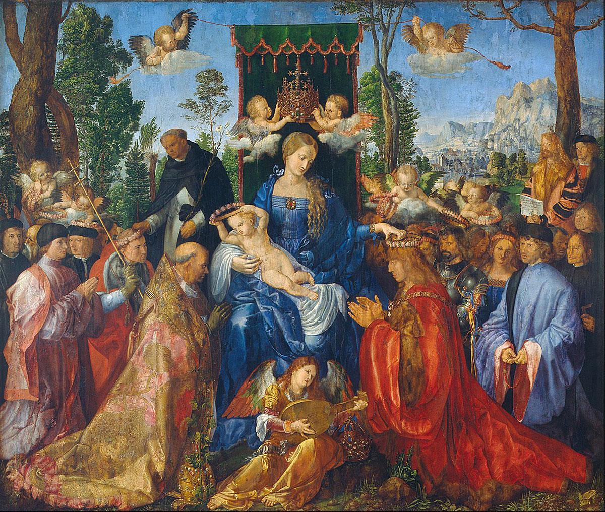 Feast of the rosary /Rosenkranzfest/ + Dürer, Albrecht *magnifico