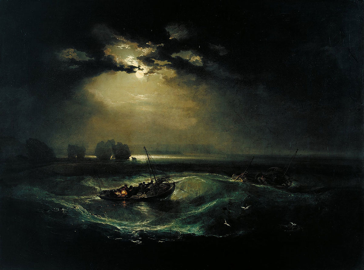 Fishermen at sea + Turner, J. M. W. *magnifico