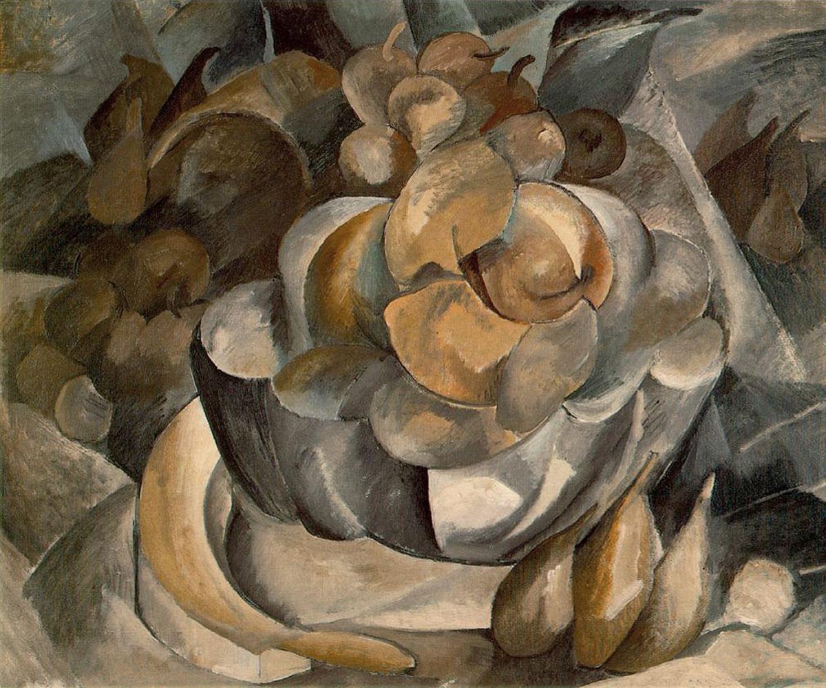 Fruit dish + Braque, Georges *magnifico