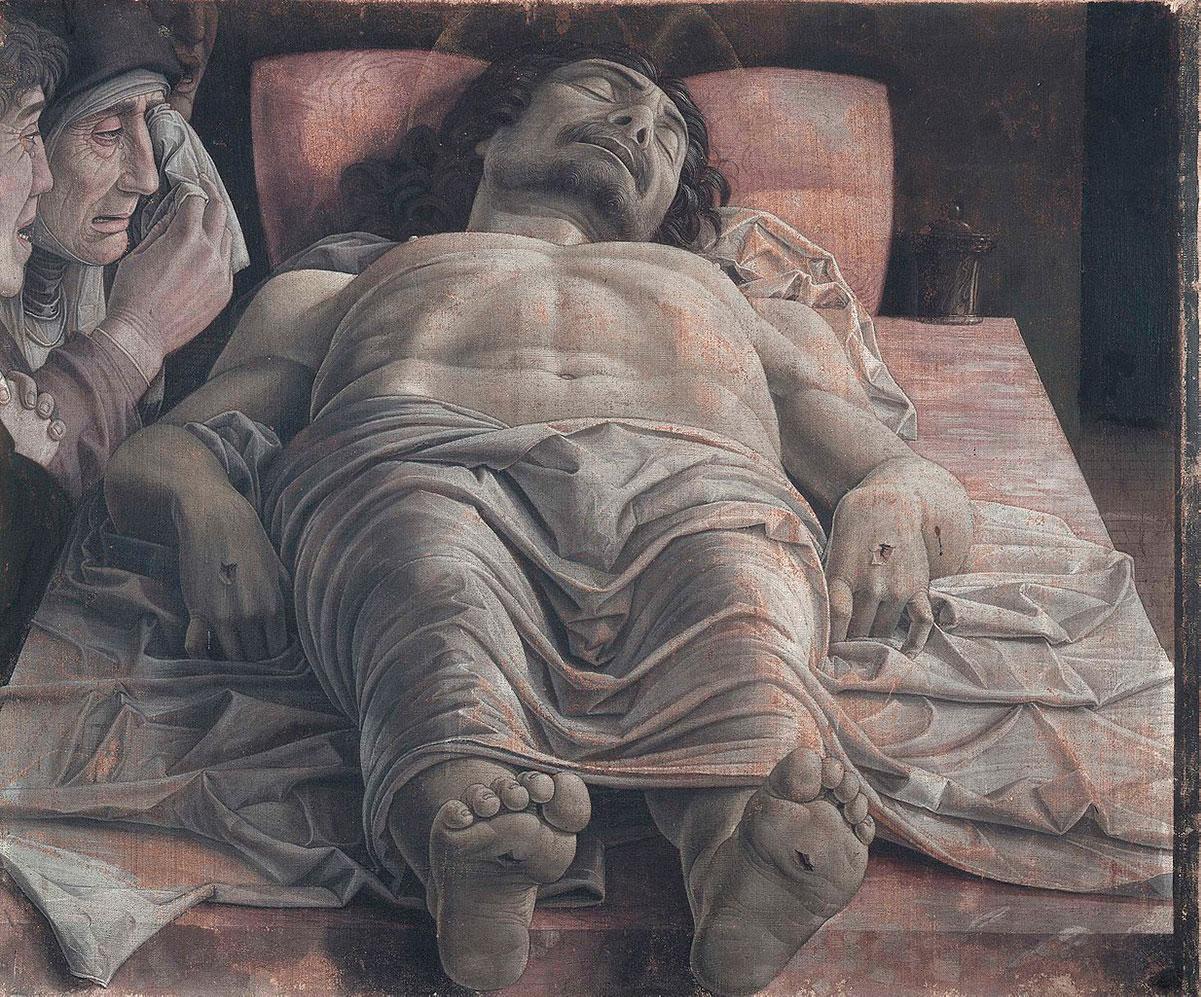 Lamentation of Christ /Cristo morto/ + Mantegna, Andrea *magnifico