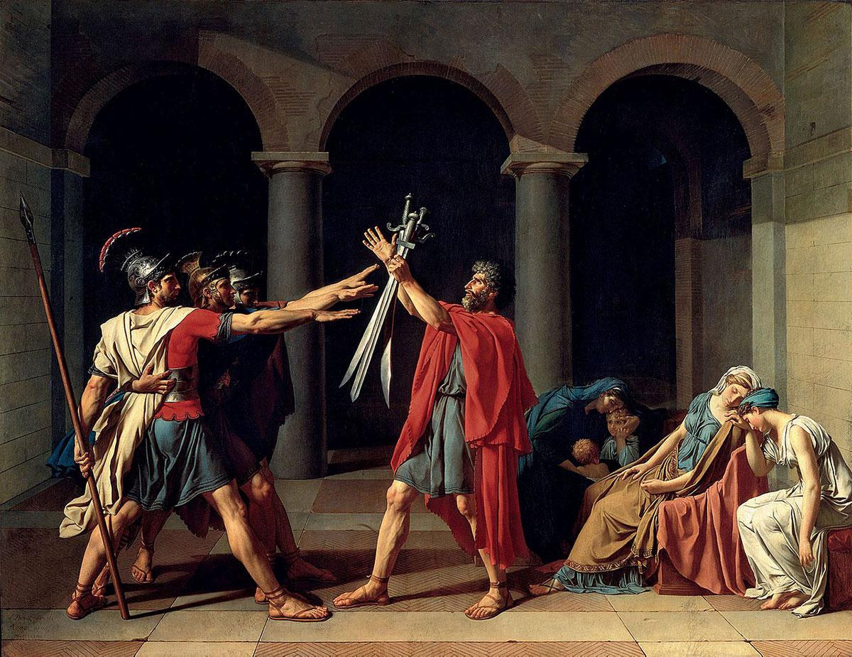 Oath of the Horatii /Le serment des Horaces/ + David, Jacques-Louis *magnifico