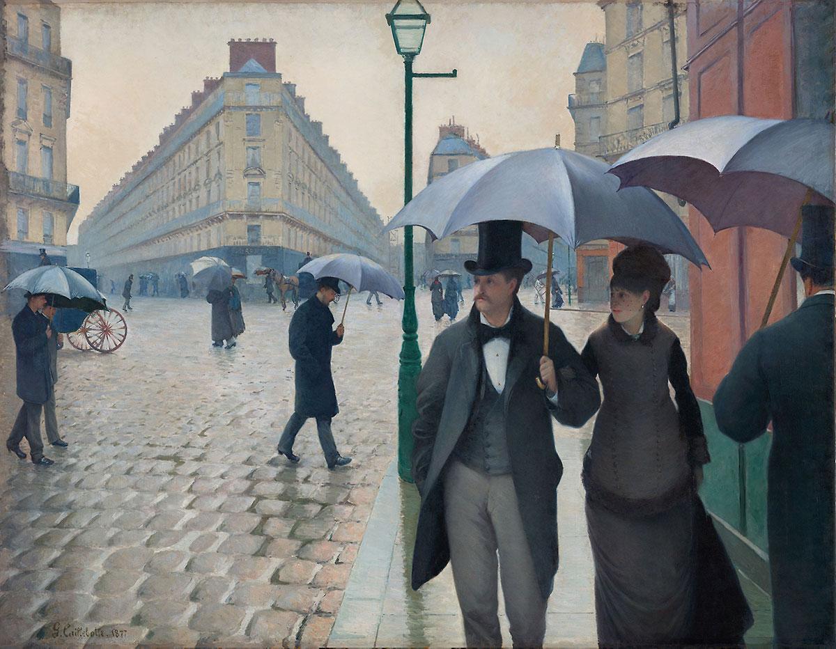 Paris Street; Rainy Day - Caillebotte