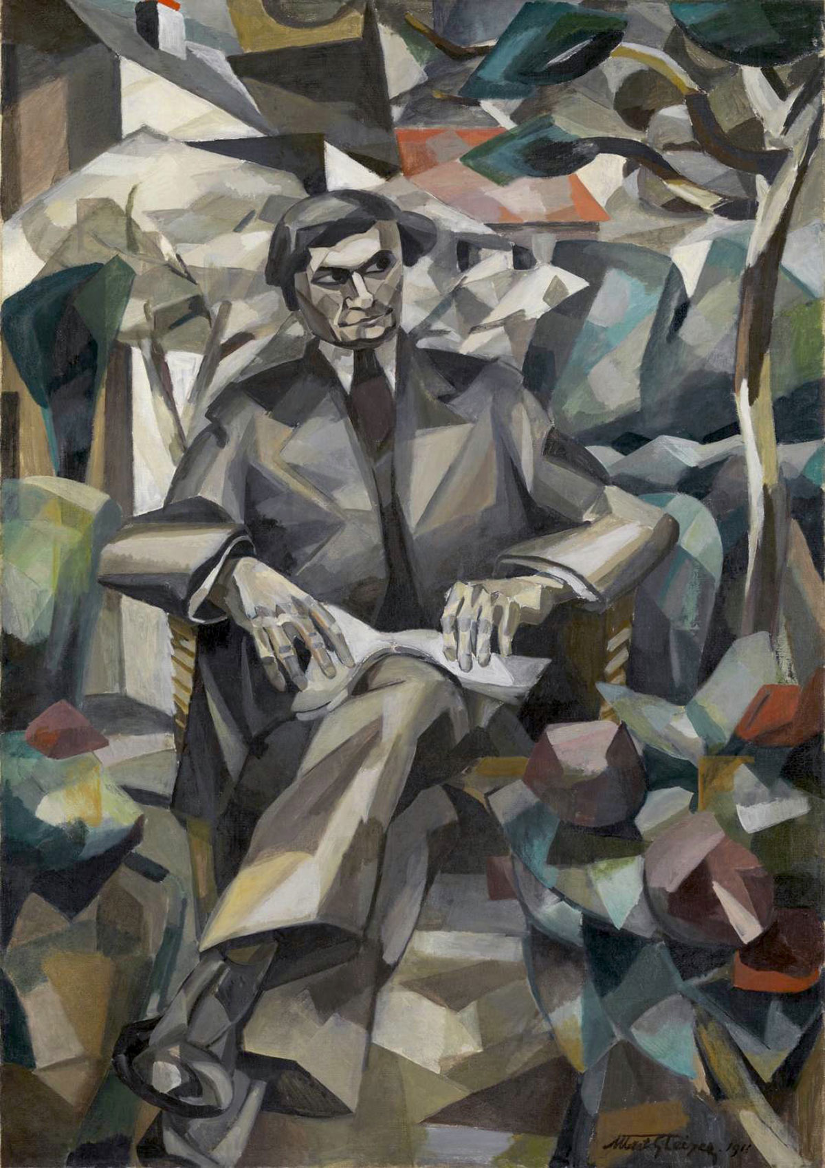 Portrait of Jacques Nayral /Portrait de Jacques Nayral/ + Gleizes, Albert *magnifico