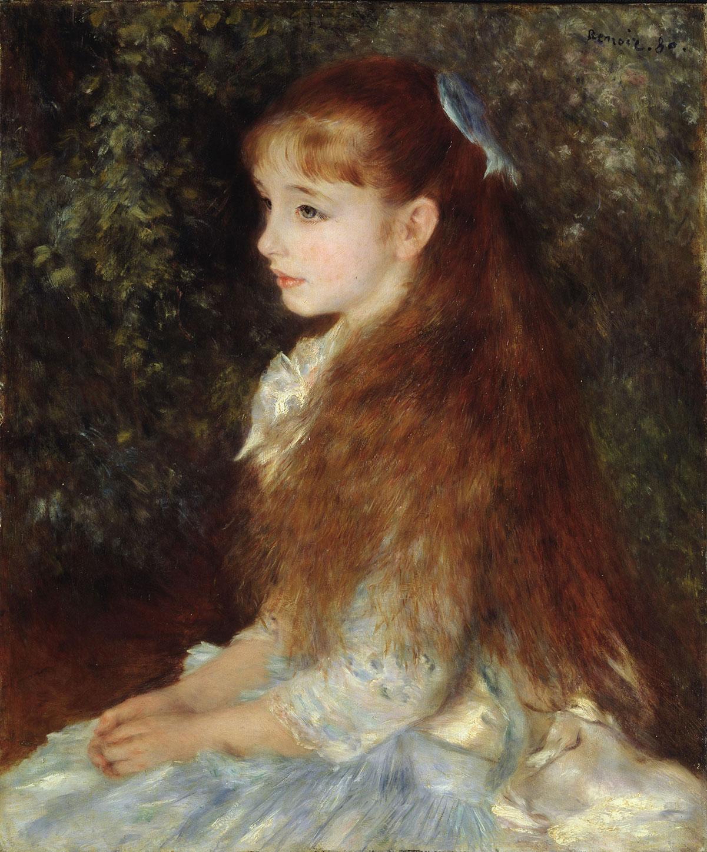 Portrait of Mademoiselle Irène Cahen d'Anvers (Little Irene) /Mademoiselle Irène Cahen d'Anvers (La petite Irène)/ + Renoir, Pierre-Auguste *magnifico
