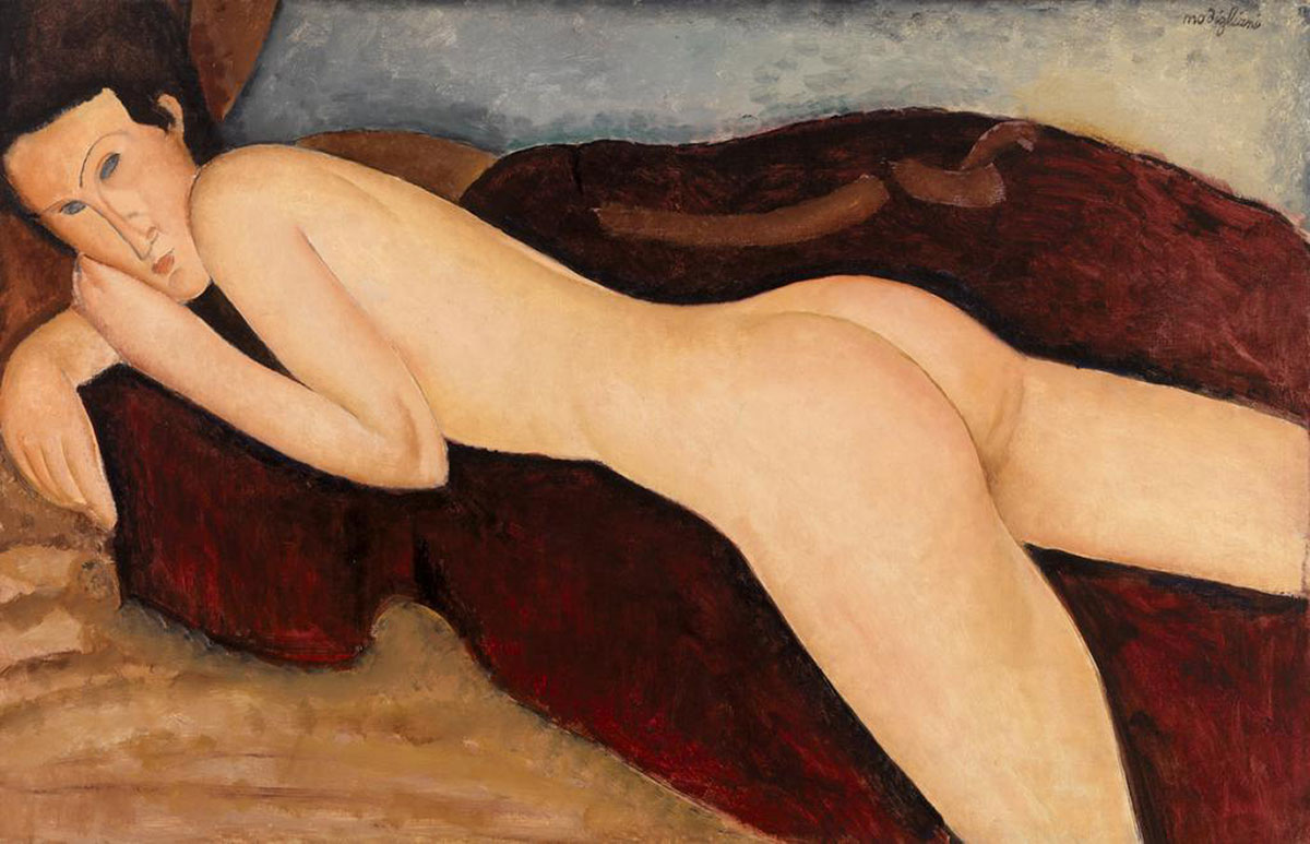 Reclining Nude from the Back - Modigliani