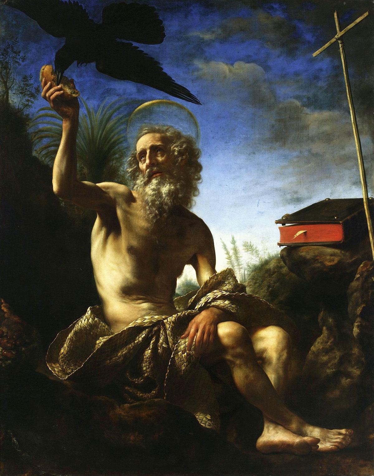 Saint Paul the hermit /San Paolo eremita/ + Dolci, Carlo *magnifico