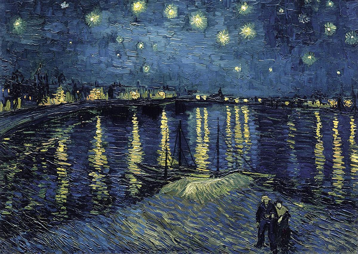 Starry night over the Rhône /Nuit étoilée sur le Rhône/ + van Gogh, Vincent *magnifico