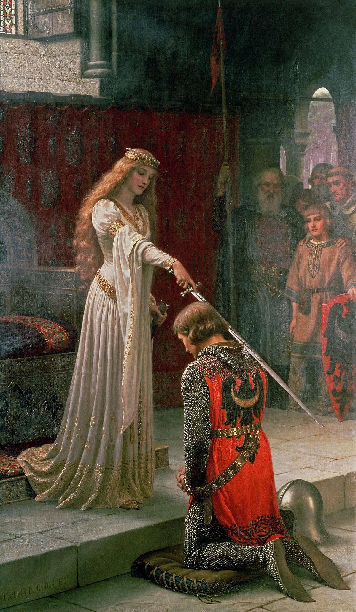 The accolade + Leighton, Edmund *magnifico