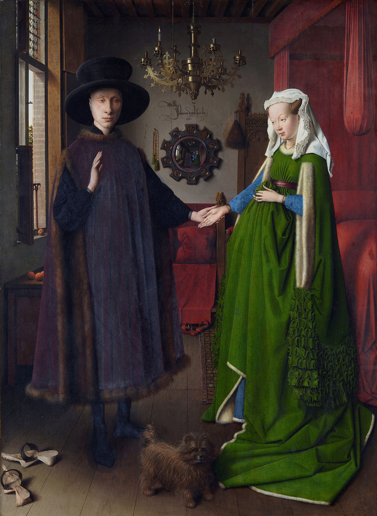 The Arnolfini Portrait /Portret van Giovanni Arnolfini en zijn vrouw/ + van Eyck, Jan *magnifico