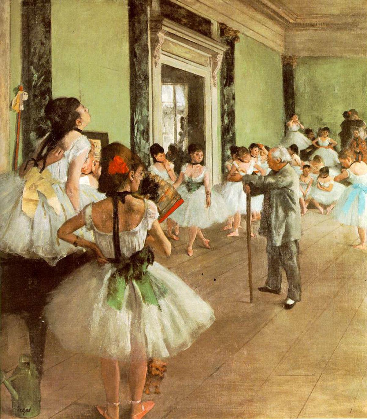 The ballet class /La classe de danse/ + Degas, Edgar *magnifico
