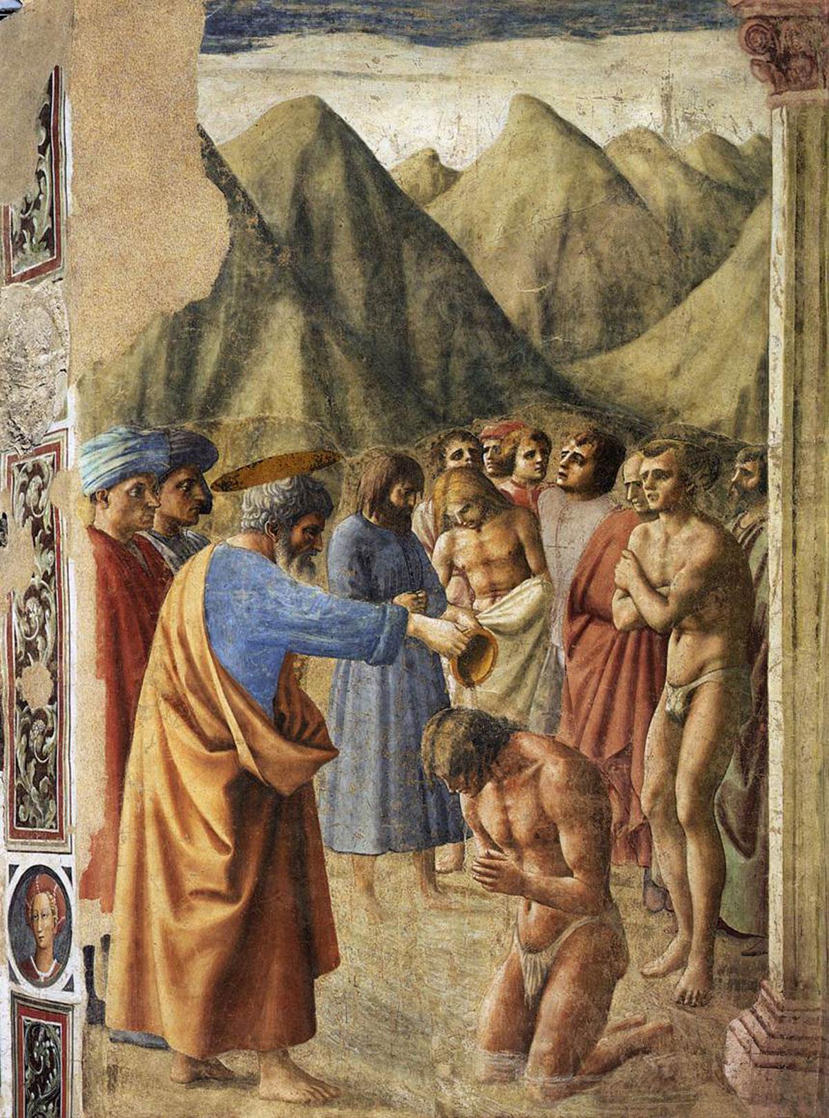 The Baptism of the Neophytes /Battesimo dei neofiti/ + Masaccio *magnifico