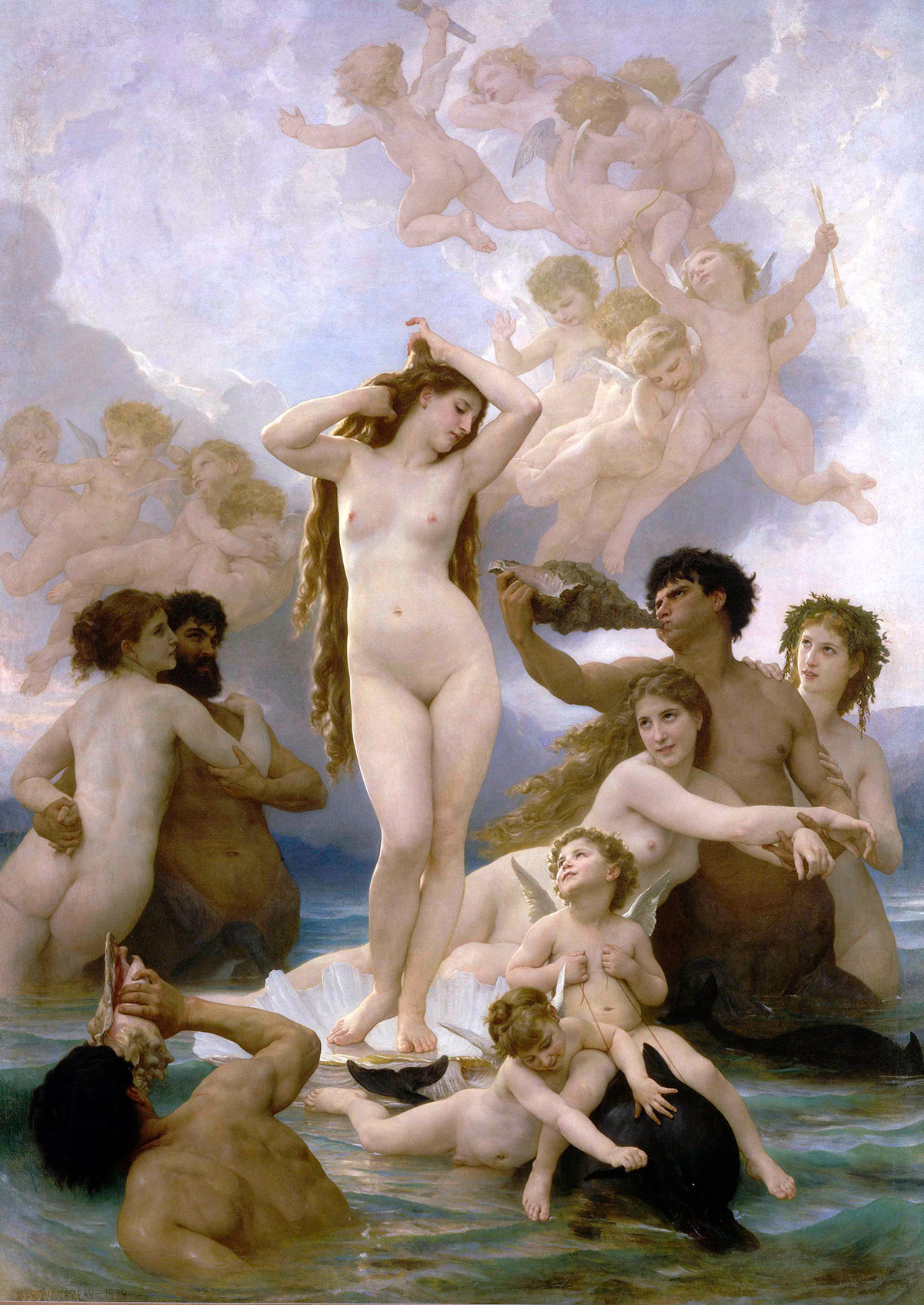 The birth of Venus /La naissance de Vénus/ + Bouguereau, William-Adolphe *magnifico