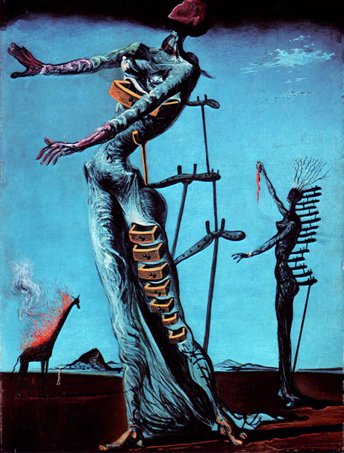 The burning giraffe /La persistència de la memòria/ + Dalí, Salvador *magnifico