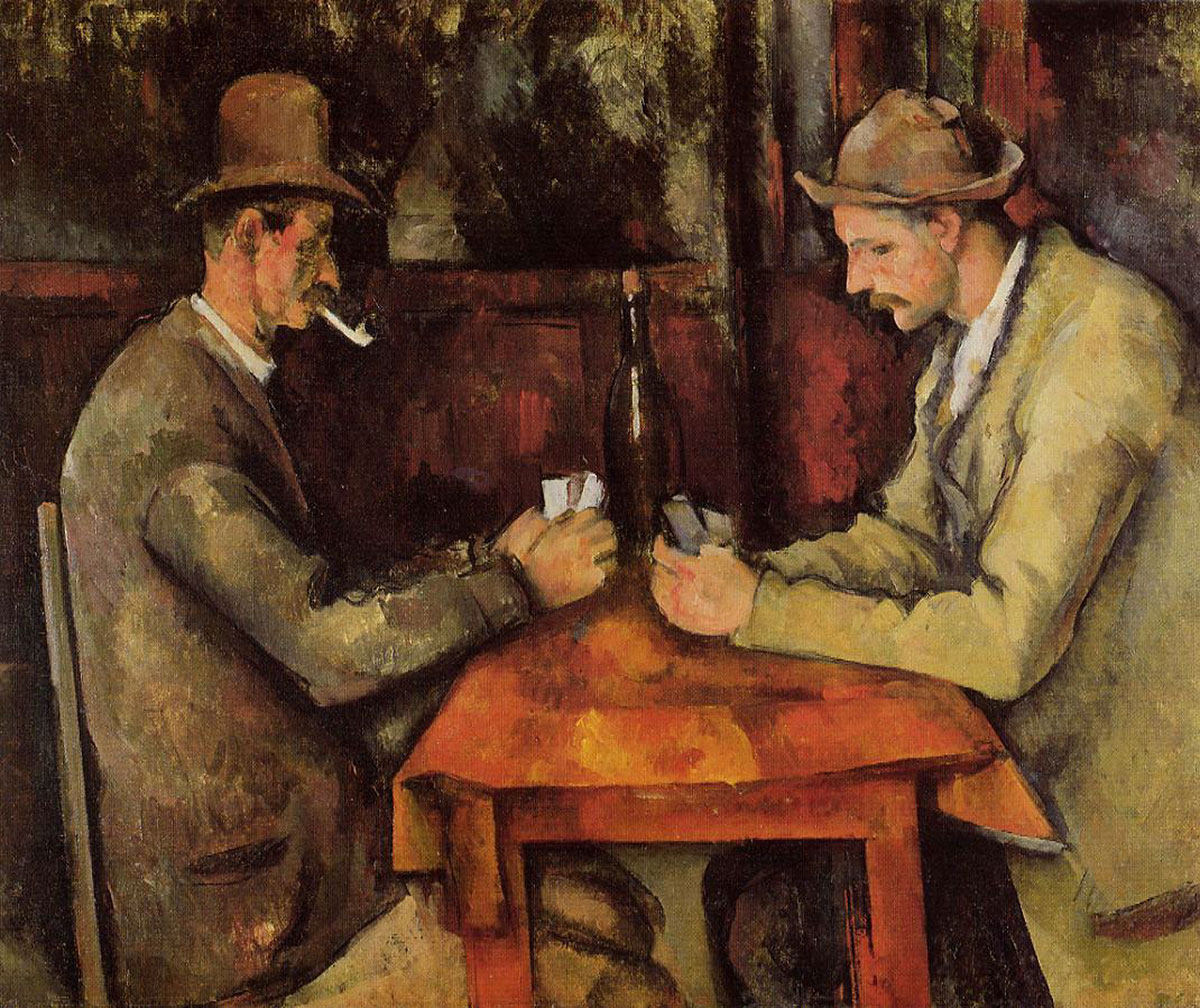 The card players /Les joueurs de cartes/ + Cézanne, Paul *magnifico