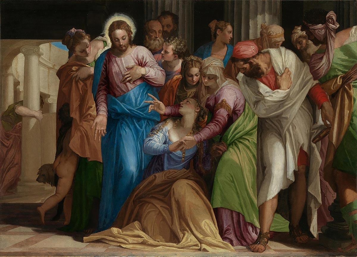 The conversion of Mary Magdalene /La conversione di Maria Maddalena/ + Paolo Veronese *magnifico