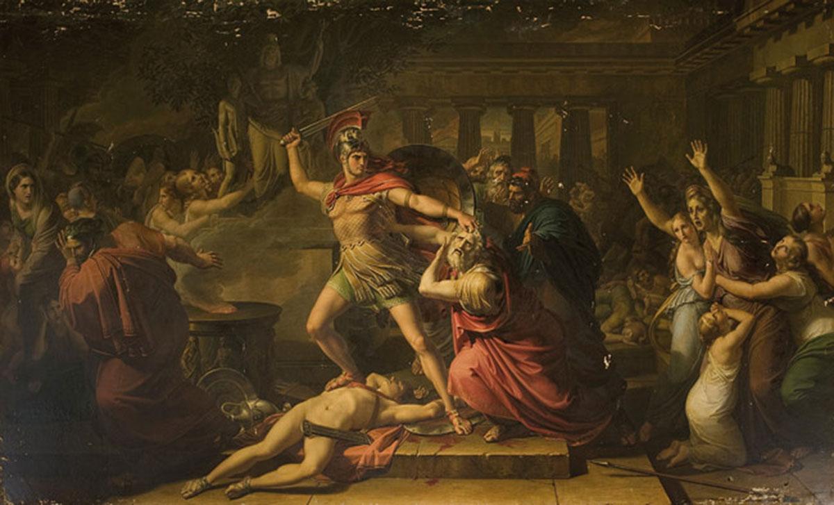 The death of Priam /La morte di Priamo/ + Benvenuti, Pietro *magnifico