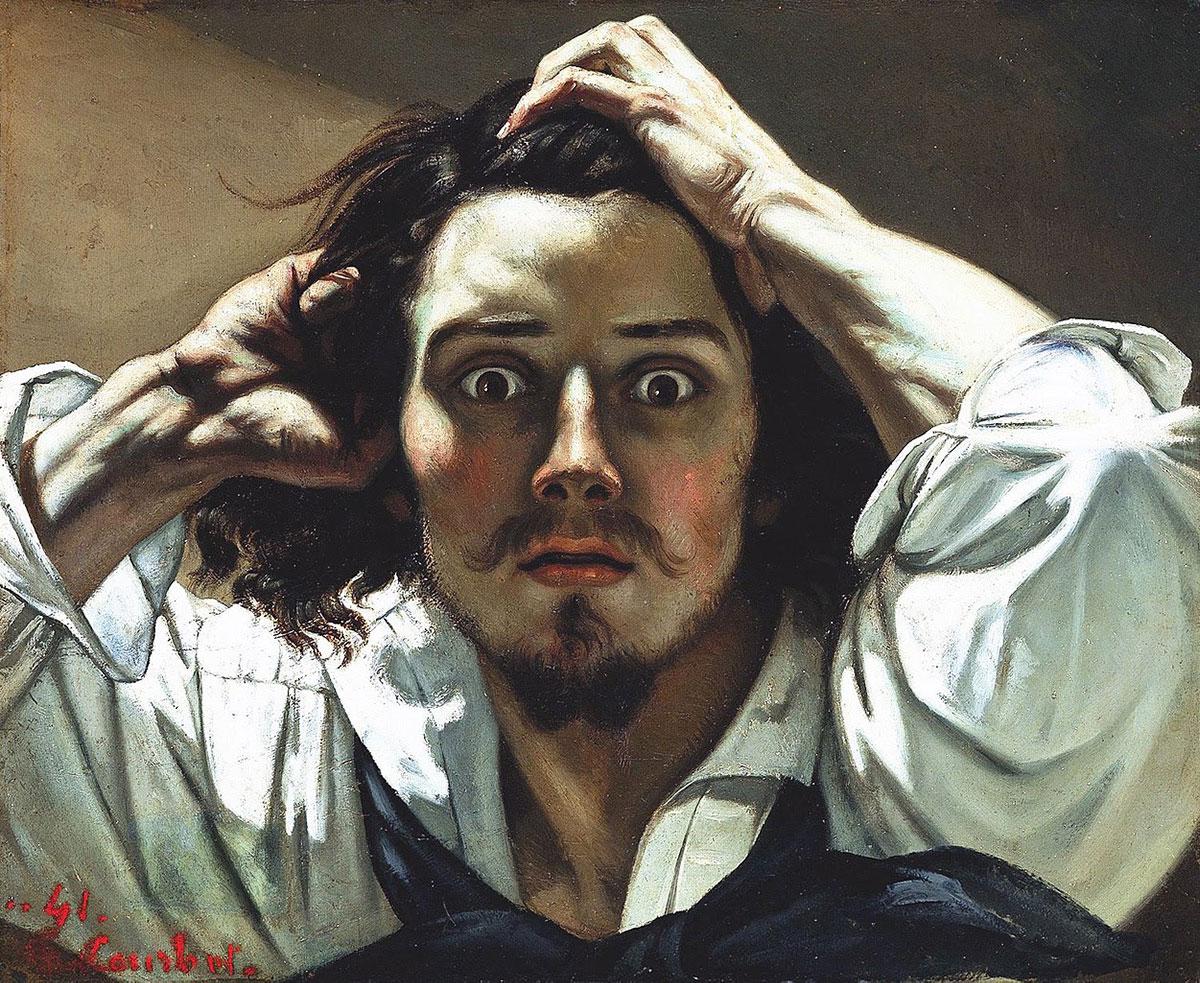 The Desperate Man /Le Désespéré/ + Courbet, Gustave *magnifico