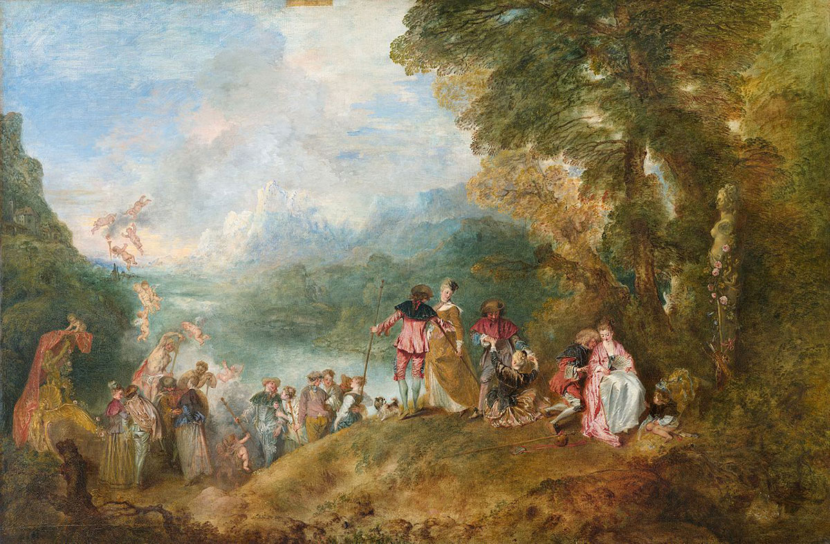 The embarkation for Cythera /L'embarquement pour Cythère/ + Watteau, Antoine *magnifico