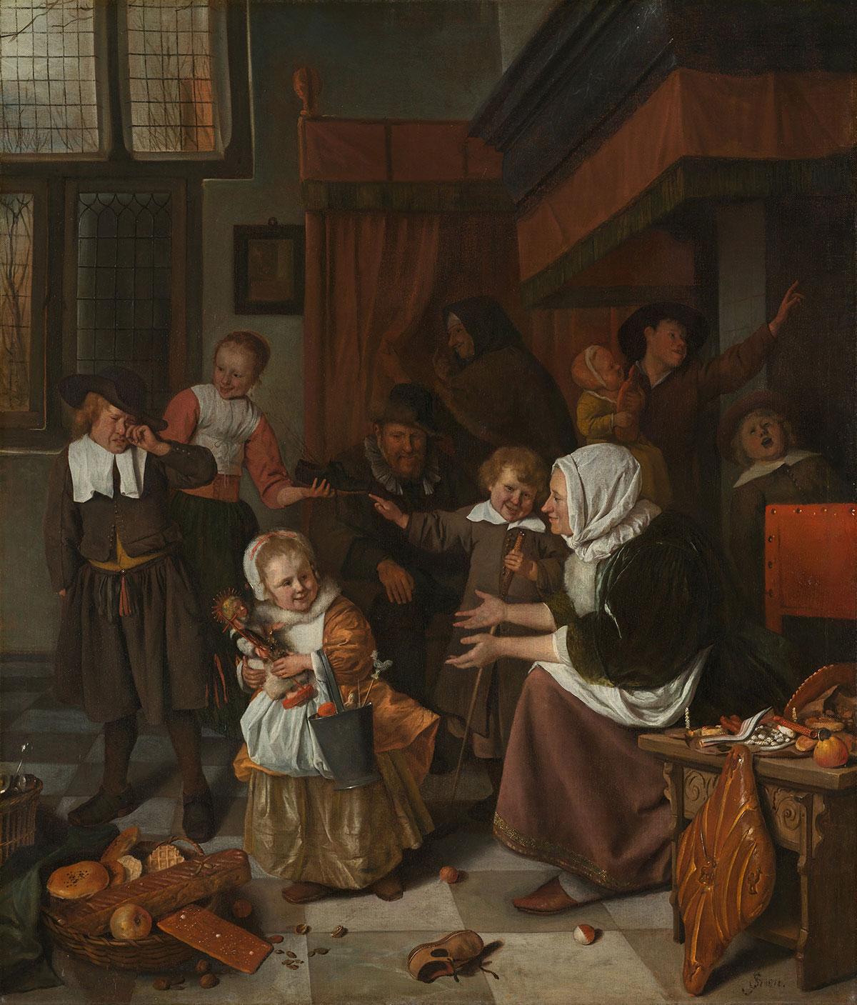 The Feast of Saint Nicholas /Het Sint-Nicolaasfeest/ + Steen, Jan *magnifico