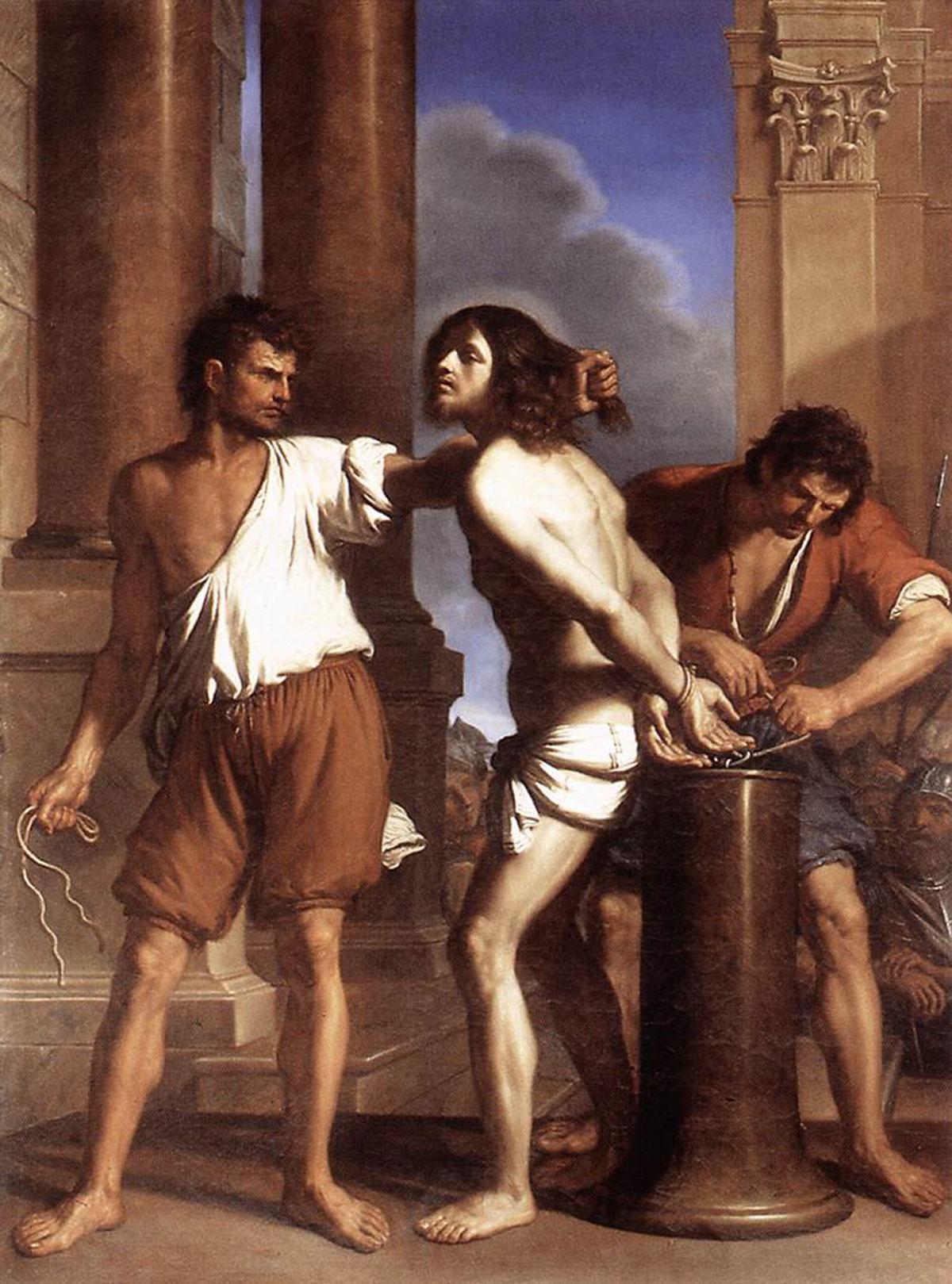 The flagellation of Christ /Flagellazione di cristo/ + Guercino *magnifico