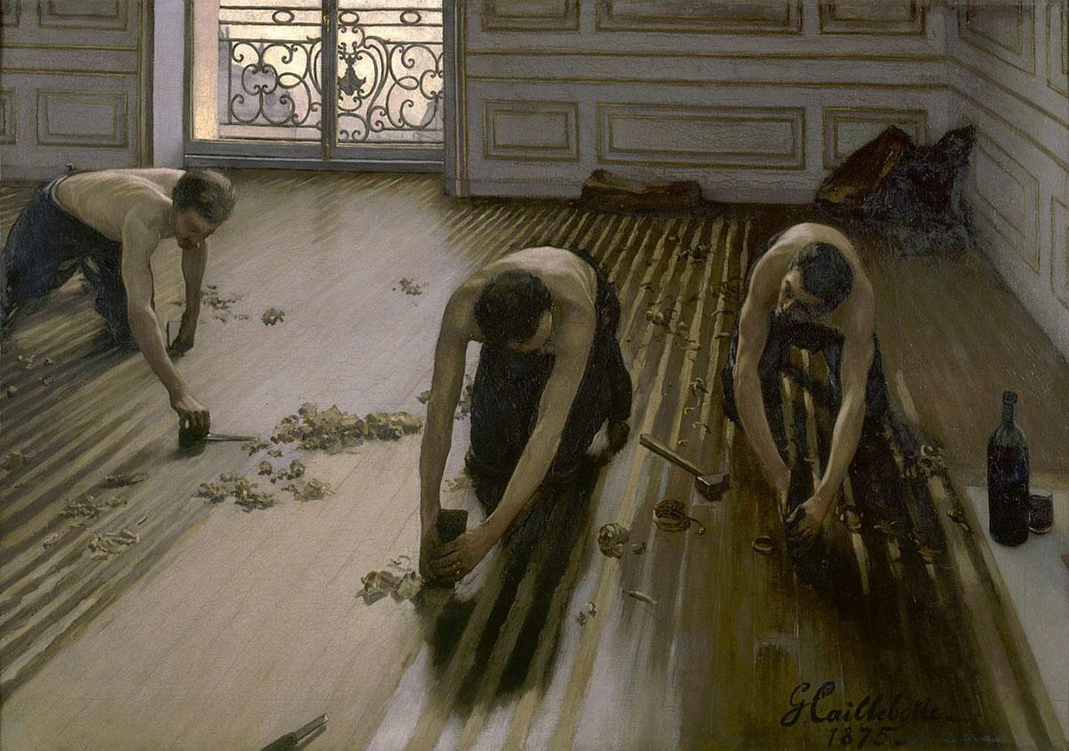 The floor scrapers /Les raboteurs de parquet/ + Caillebotte, Gustave *magnifico