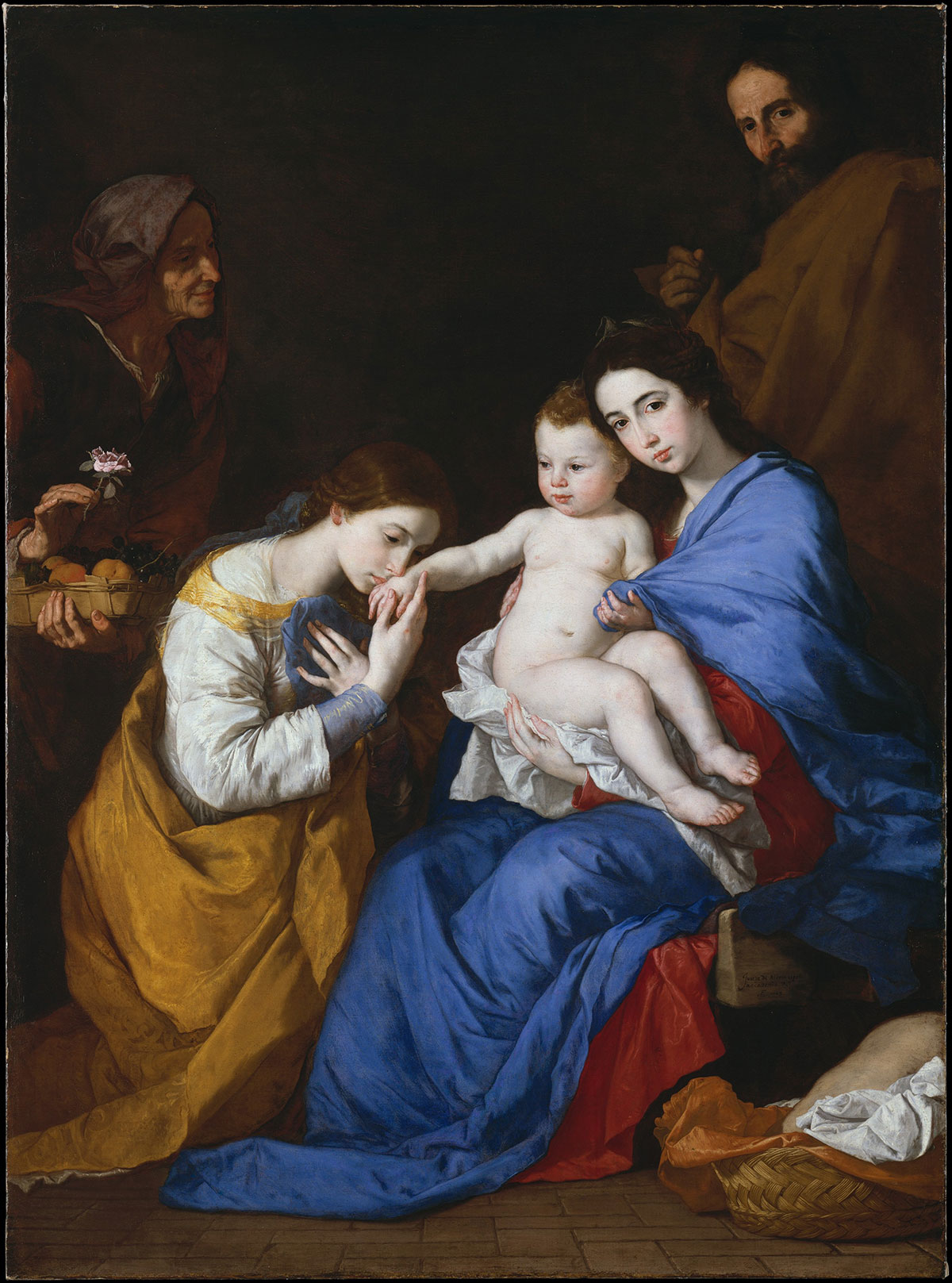 The Holy Family with Saints Anne and Catherine of Alexandria - de Ribera