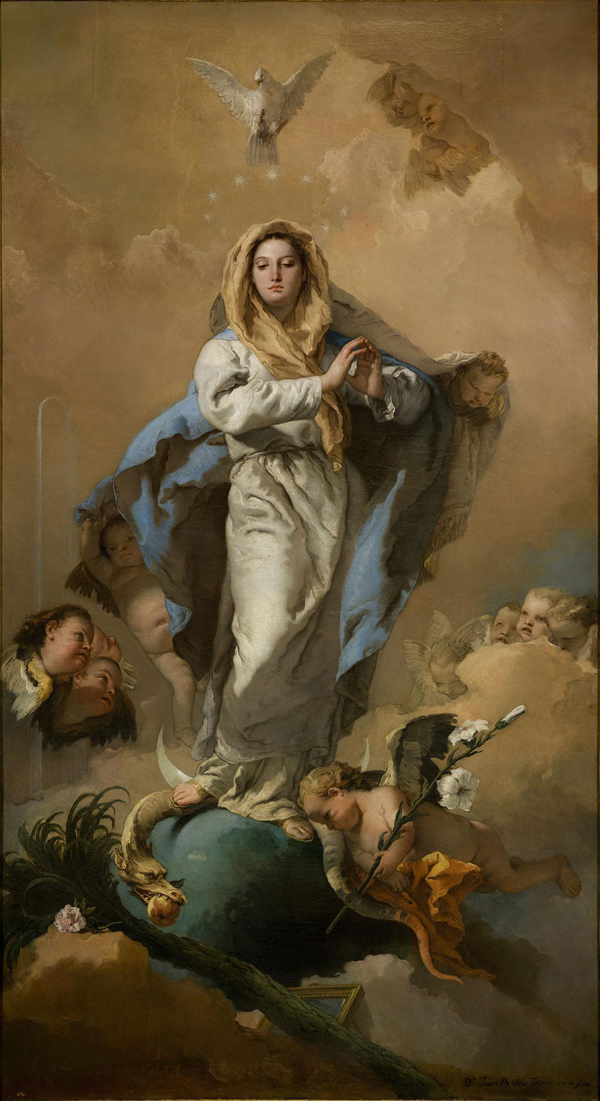 The Immaculate Conception /L'Immacolata Concezione/ + Tiepolo, Giovanni Battista *magnifico
