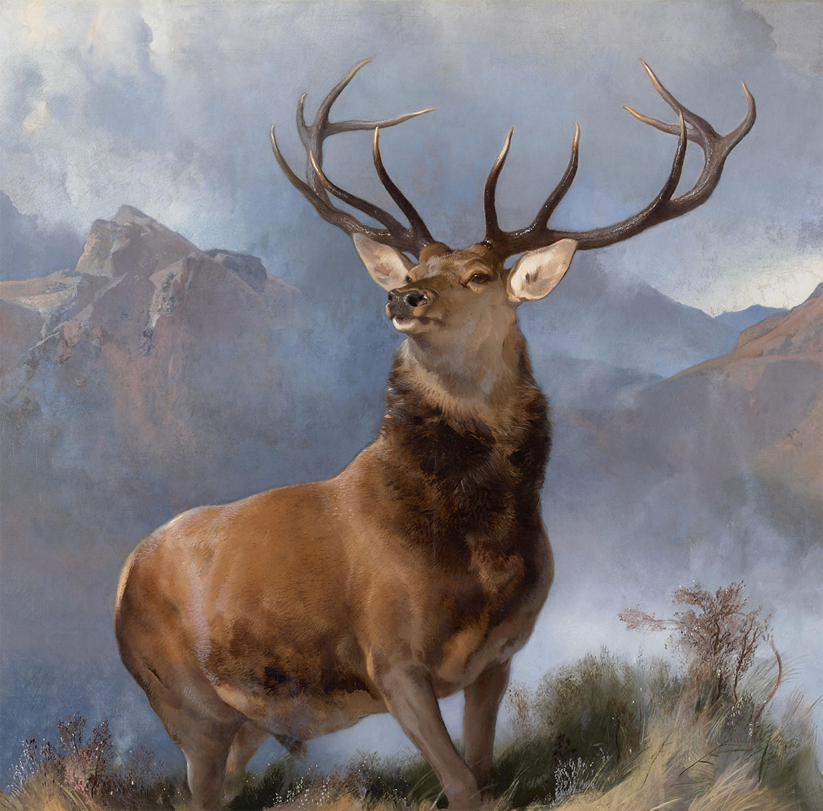 The Monarch of the Glen + Landseer, Edwin *magnifico