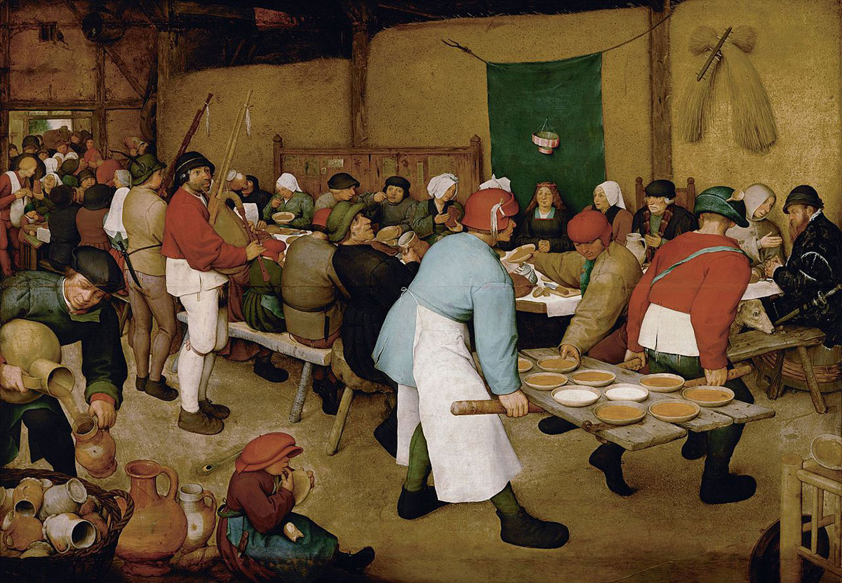 The peasant wedding /De boerenbruiloft/ + Bruegel the Elder, Pieter *magnifico