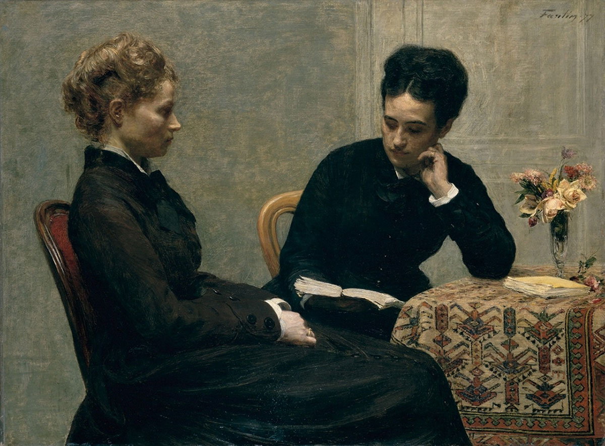 The reading /La lecture/ + Fantin-Latour, Henri *magnifico