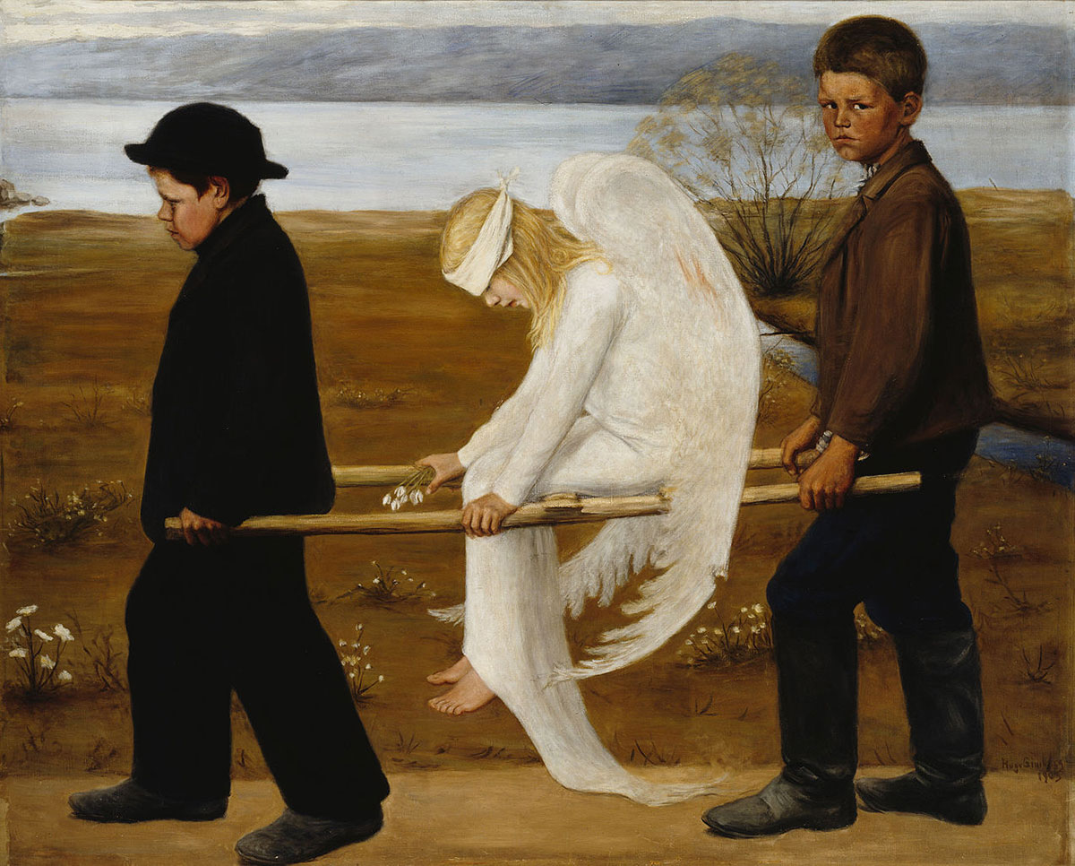 The wounded angel /Haavoittunut enkeli/ + Simberg, Hugo *magnifico