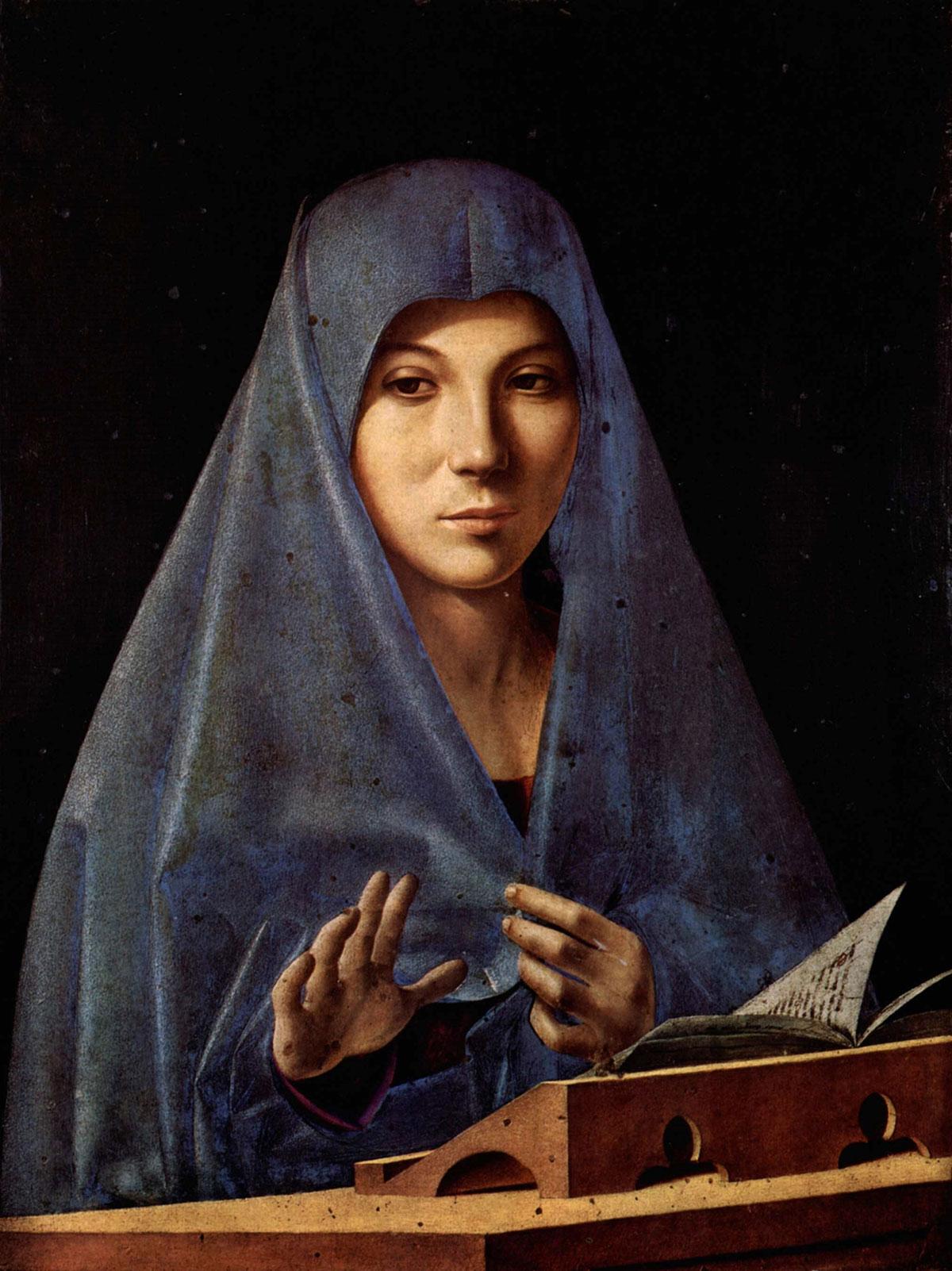 Virgin Annunciate /Annunciata di Palermo/ + Antonello da Messina *magnifico