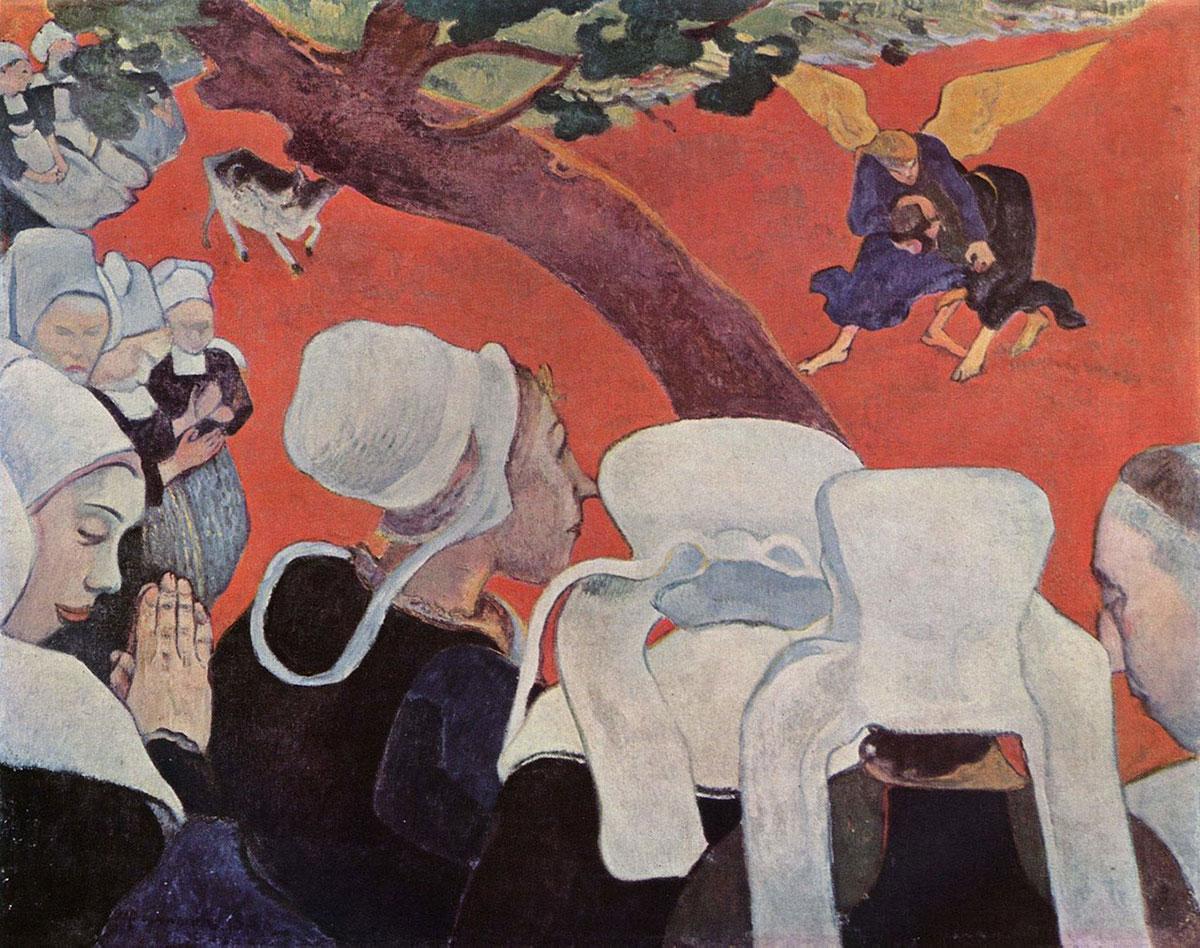 Vision after the sermon /Vision après le sermon/ + Gauguin, Paul *magnifico